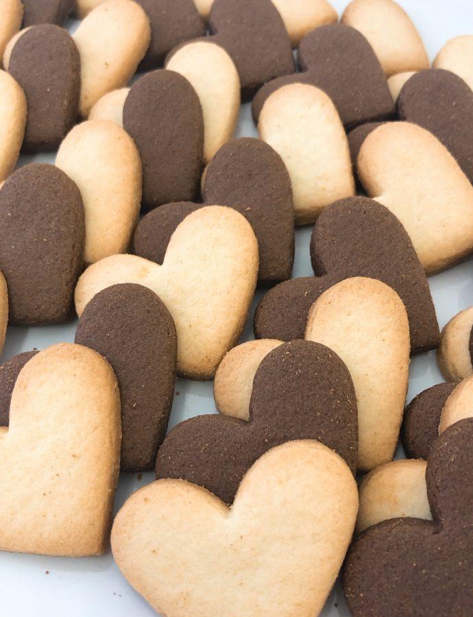 ハートクッキー プレーン&ココア